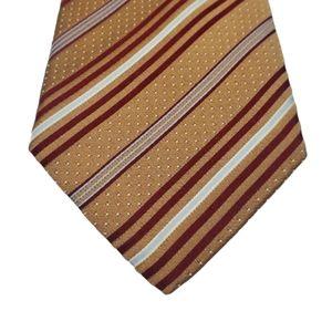 Ermenegildo Zegna Red Gold Diagonal Stripe Tie